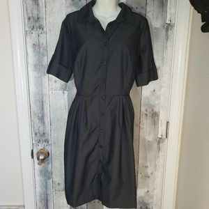 Liz Claiborne chambray button up shirt dress 16